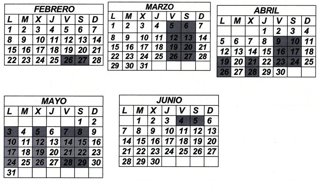 calendario competencia 2021